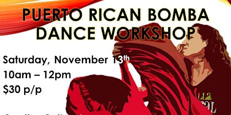 Puerto Rican Bomba Dance Workshop tickets