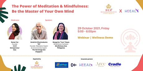 The Power of Meditation & Mindfulness: Be the Master of Your Own Mind tickets