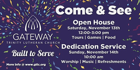 Dedication Worship and Lunch tickets