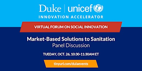Panel Discussion: Market-Based Solutions to Sanitation tickets