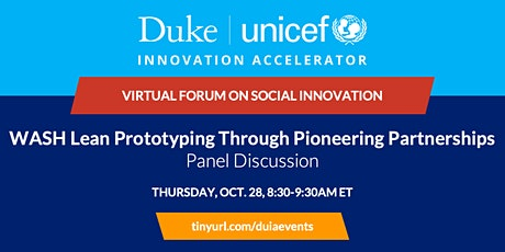 Panel Discussion: WASH Lean Prototyping Through Pioneering Partnerships tickets