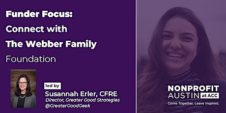 Funder Focus: Connect with The Webber Family Foundation tickets