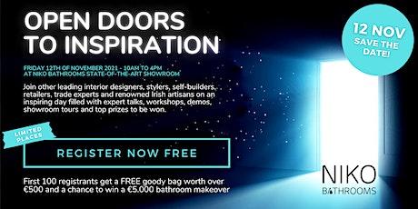 12.11.21 Open Doors to Inspiration tickets