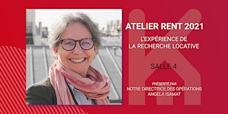 Atelier RENT 2021 (salle 4) : L'expérience de la recherche locative billets