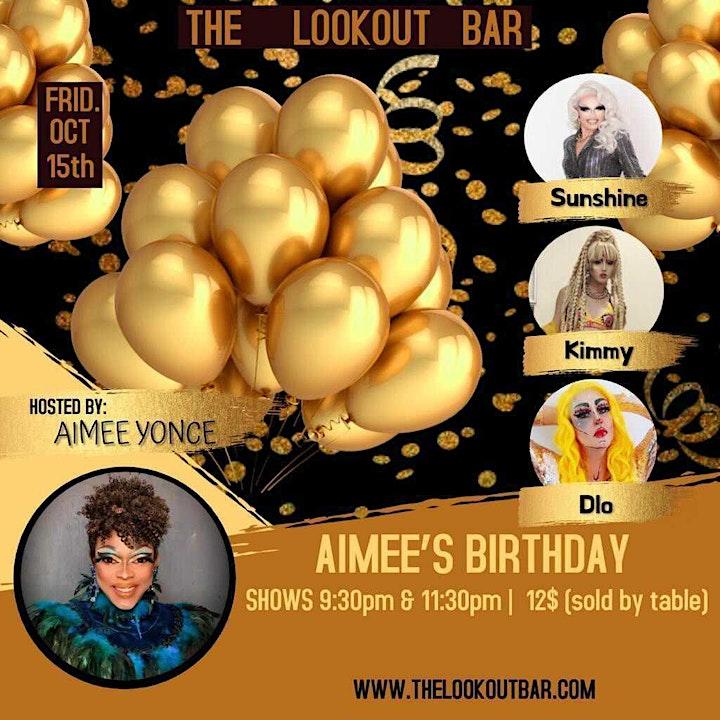 Friday Night Drag - Aimee's Birthday w/ Sunshine, Kimmy & D'Lo - 11:30pm image