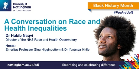 A Conversation on Race and Health Inequalities tickets