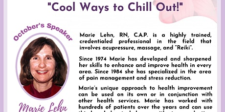 """""""Cool Ways to Chill Out!"""" - How do you debrief within your day? tickets"""
