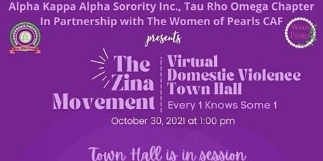 The Zina Movement: Virtual Domestic Violence Town Hall tickets