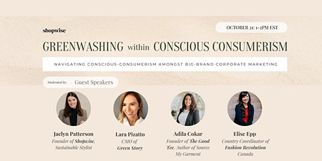 Greenwashing within Conscious Consumerism tickets