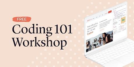 Coding 101 Workshop (Live Online) tickets