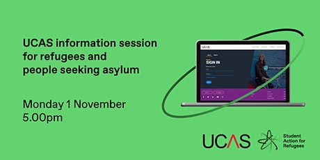 UCAS information session for refugees and people seeking asylum tickets