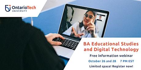 BA Educational Studies and Digital Technology Information Webinar tickets
