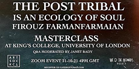 Live talk with artist FarmanFarmaian, moderated by curator Janet Rady tickets