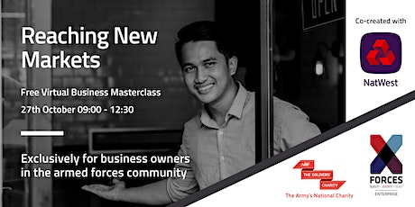 Business Masterclass: Identifying & Reaching New Markets with NatWest tickets