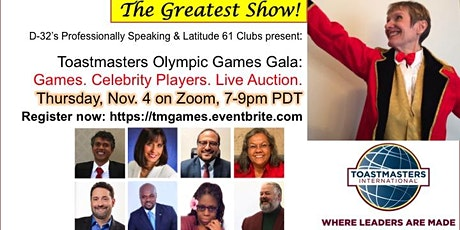 The Greatest Show! Toastmasters Olympic Games Gala tickets