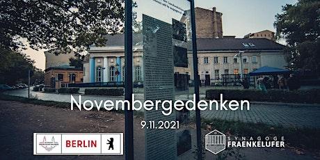 Novembergedenken mit Kranzniederlegung und Konzert, 9. November Tickets