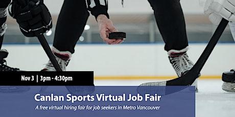 Canlan Sports Virtual Job Fair tickets