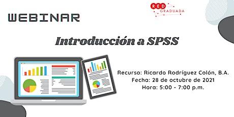Webinar: Introducción a SPSS boletos