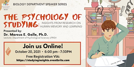 Psychology of Studying: Insights from Research on Human Memory and Learning tickets