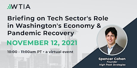 The Technology Sector's Role in Washington's Economy and Economic Recovery tickets