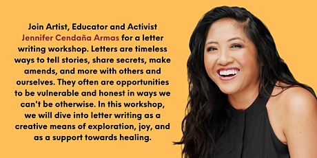 A Creative Letter Writing Workshop with Jennifer Cendaña Armas tickets