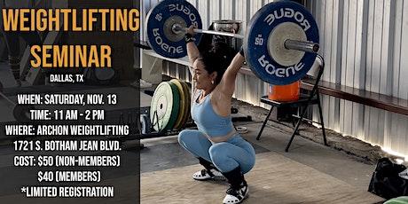 Weightlifting Seminar tickets