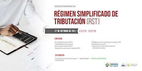 VIDEOCONFERENCIA: RÉGIMEN SIMPLIFICADO DE TRIBUTACIÓN (RST) entradas
