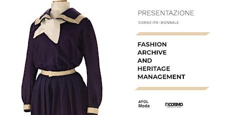 Presentazione corso ITS - Fashion Archive and Heritage Management biglietti