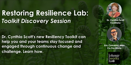 Restoring Resilience Lab: Discovery Session tickets