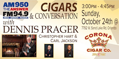 Cigars and Conversation with Dennis Prager tickets
