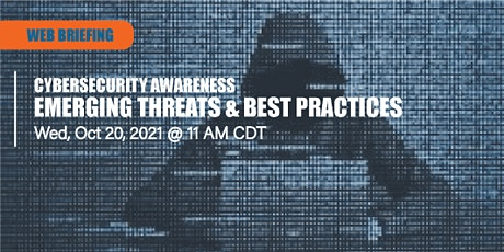 Cybersecurity Web Briefing - Emerging Threats & Best Practices for Your Bus tickets