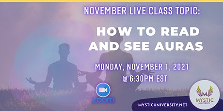 LIVE CLASS: How to See and Read Auras ingressos