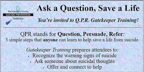 Spring-Ford Community QPR Training tickets