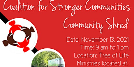 Coalition for Stronger Communities Community Shred tickets