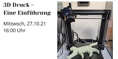 WUEWW 2021 | 3D Druck - Eine Einführung Tickets