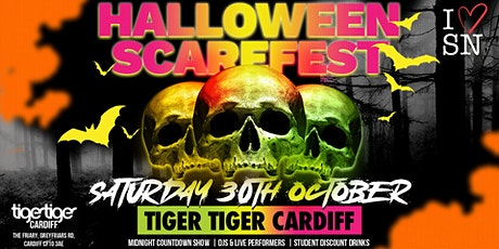 Halloween Scarefest at Tiger Tiger Cardiff // Sat 30th Oct // 7 Rooms // tickets