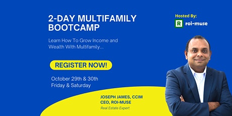 """""""2-Day Multifamily Training Bootcamp by Joseph James, CCIM"""" tickets"""