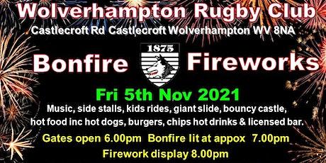 WRUFC Bonfire Night tickets