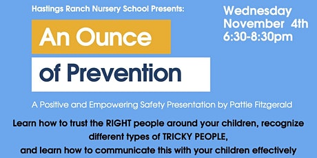 An Ounce of Prevention with Pattie Fitzgerald tickets