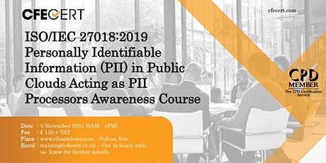 ISO/IEC 27018:2019  PII  Awareness Course tickets
