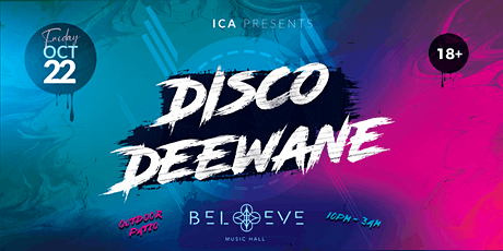 Disco Deewane | Believe Music Hall |Friday, October 22nd tickets