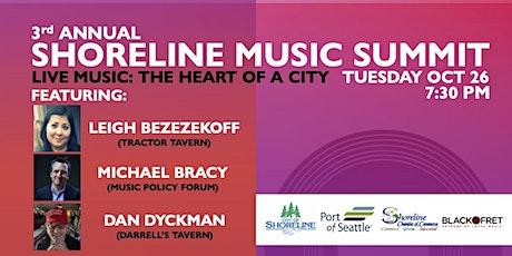 3rd Annual Shoreline Music Summit: tickets