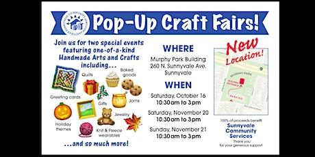 Pop-up Craft Fair - Benefiting Sunnyvale Community Services -Free Admission tickets