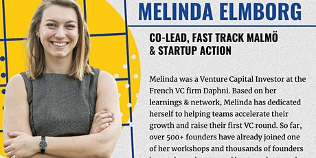Startup Fundraising Q&A Session with Melinda Elmborg, from Fast Track Malmo tickets