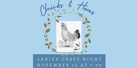 Chicks & Hens Ladies Craft Night Birch Tree Painting Workshop tickets