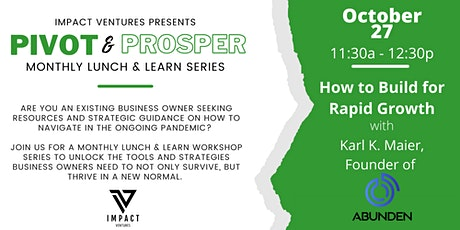 Pivot & Prosper Lunch and Learn Series tickets