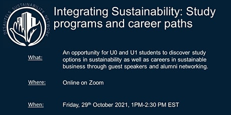 Integrating Sustainability: Study Programs and Career Paths tickets