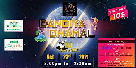 DANDIYA DHAMAL - SHARAD POONAM GARABA NIGHT tickets