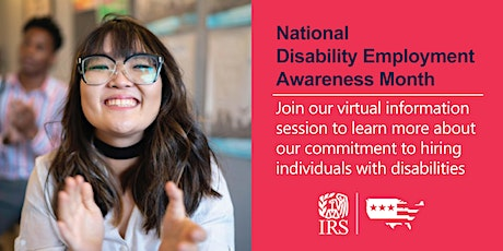 IRS Disability Employment Awareness Month Virtual Information Session tickets
