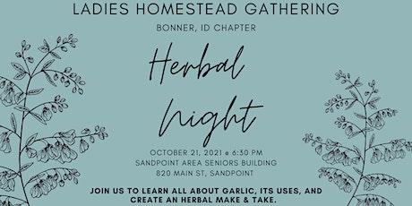 Ladies Homestead Gathering of Bonner County: Herbal Night tickets